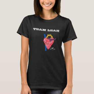 Team Leah Woman's Black T-Shirt