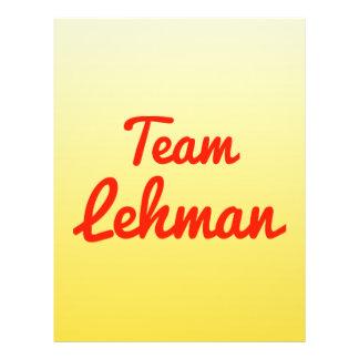 Team Lehman Flyer