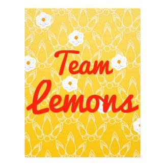 Team Lemons Flyer