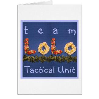Team Lolo Tactical Unit Card