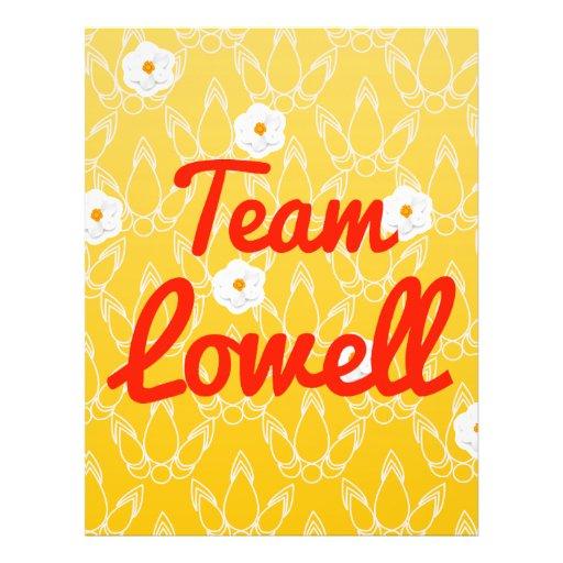 Team Lowell Full Color Flyer
