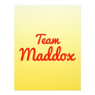Team Maddox Full Color Flyer