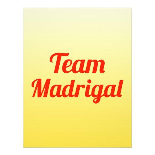 Team Madrigal Flyer Design