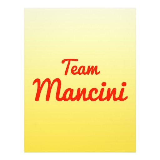 Team Mancini Full Color Flyer