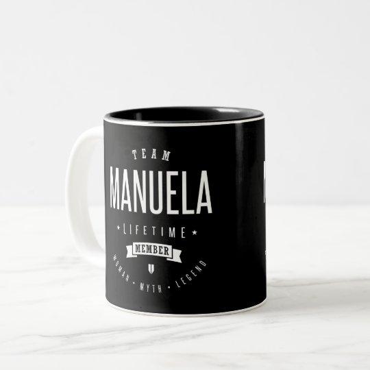 Team Manuela Two-Tone Coffee Mug