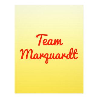 Team Marquardt Custom Flyer