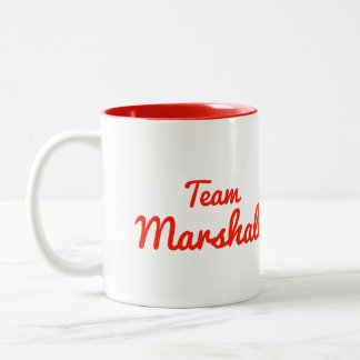 Team Marshall Two-Tone Coffee Mug