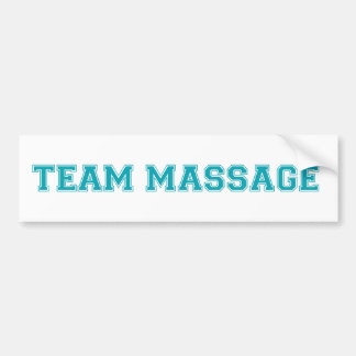 TEAM MASSAGE BUMPER STICKER