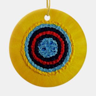 Team Matthew Sunflower for Autism Round Ceramic Ornament