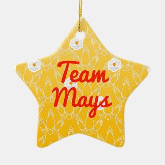 Team Mays Ceramic Ornament