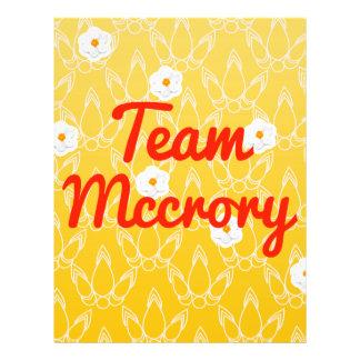 Team Mccrory Flyer Design