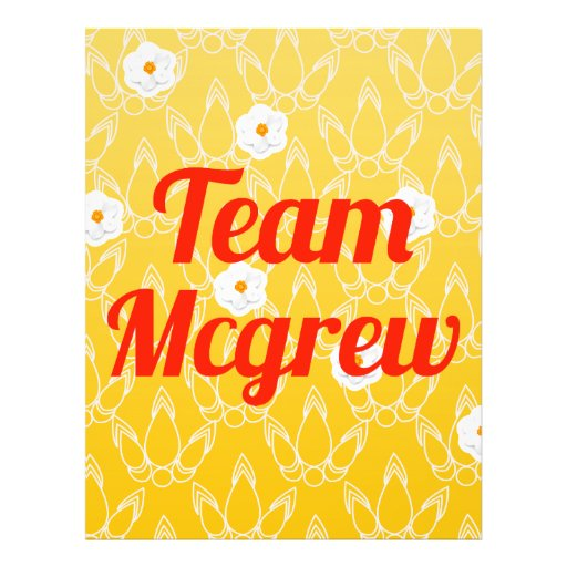 Team Mcgrew Full Color Flyer