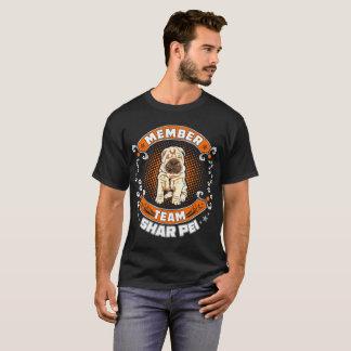 Team Member Shar Pei Dog Pets Love Tshirt