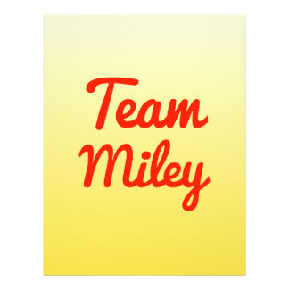 Team Miley Flyer Design
