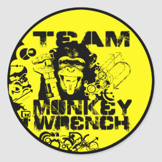 Team Monkey Wrench Classic Round Sticker