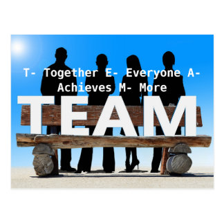 Team motivational and inspirational postcard