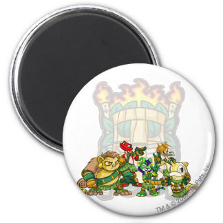 Team Mystery Island Group 2 Inch Round Magnet