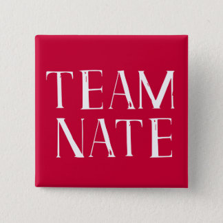 Team Nate 2 Inch Square Button