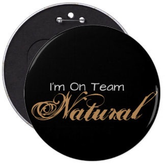 Team Natural 6 inch Button