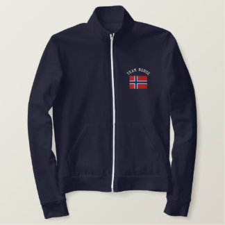 TEAM NORGE Sports Flag Embroidered Jacket
