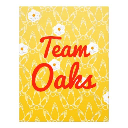 Team Oaks Personalized Flyer
