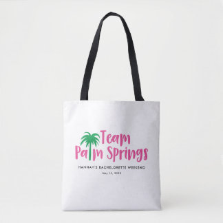 Team Palm Springs Bachelorette Party Tote Bags