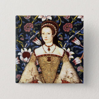 Team Parr - Portrait of Queen Katherine Parr 2 Inch Square Button