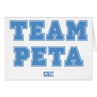 Team PETA Card