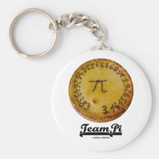 Team Pi (Pi / Pie Mathematical Constant Atttude) Keychains