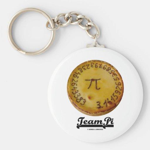 Team Pi (Pi / Pie Mathematical Constant Atttude) Keychain