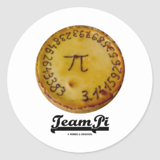Team Pi Pi Pie Mathematical Constant Atttude Sticker