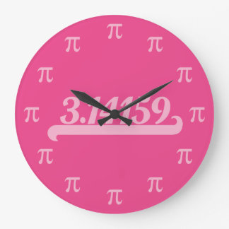 Team Pi Pink Large Clock