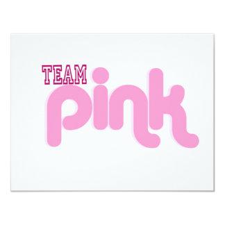"TEAM PINK 4.25"" X 5.5"" INVITATION CARD"