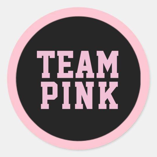TEAM PINK Gender Reveal Baby Shower Game Labels