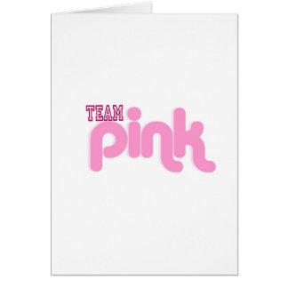 TEAM PINK GREETING CARD