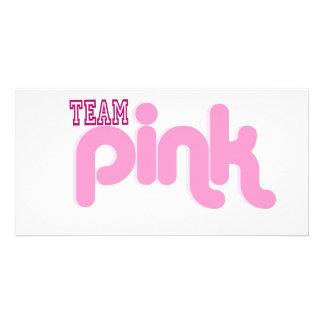 TEAM PINK PHOTO GREETING CARD