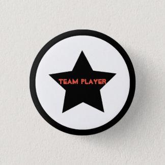 Team Player Star Button Pin