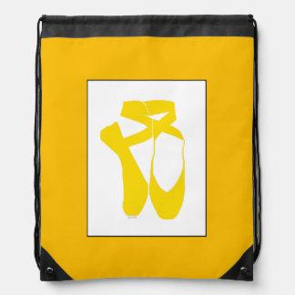 Team Pointe Ballet Goldenrod Drawstring Bag