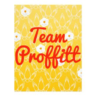 Team Proffitt Custom Flyer