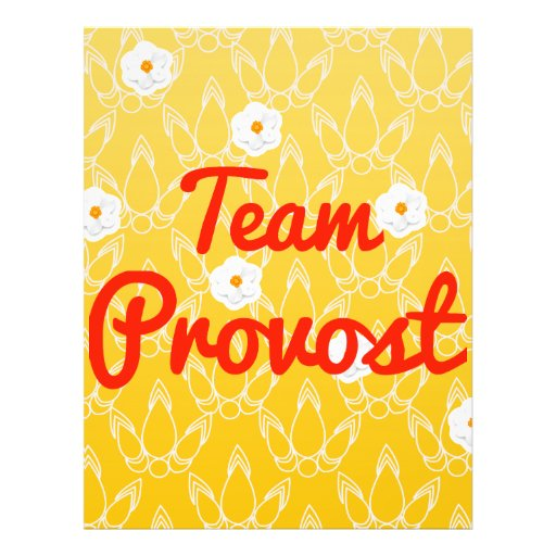 Team Provost Personalized Flyer