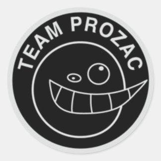 Team Prozac Sticker Black