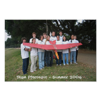 Team Pterosaur Team Picture Poster