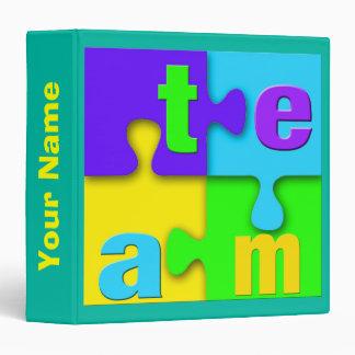 Team Puzzle Binder