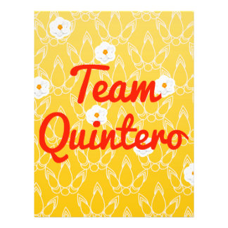 Team Quintero Personalized Flyer
