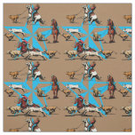 Team Roping Calf Roping Rodeo Western Fabric