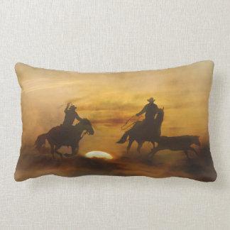 Team Roping Decor Pillow