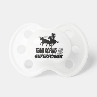 Team roping designs pacifier