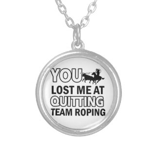 Team roping designs silver plated necklace