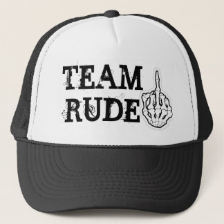 TEAM RUDE TRUCKER HAT
