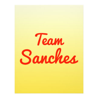 Team Sanches Personalized Flyer
